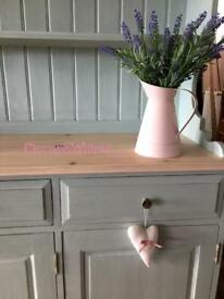 HUGE STUNNING PALE DUCK EGG COUNTRY CHIC WELSH DRESSER