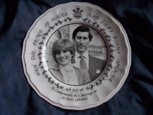 Royal Wedding Commemorative Plate and Cup & Birth Plate
