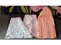 girls swaddle blanket and baby sleeping bag