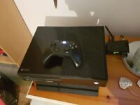 Xbox one all leads controller and one game