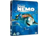 Finding nemo & Finding dory blu-ray steelbooks new & sealed
