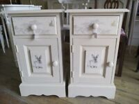 Painted Bedside Cabinets.