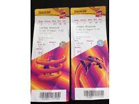 World Athletics Championship ticket s x 2 - Fri 11 Aug pm