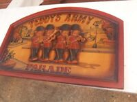 Wooden 3D sign Teddy's Army Parade Sign