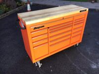 Snap On Roll Cab Orange 53' + Side trolley £1250 ONO