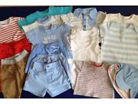 0-3 months bundle of baby boy summer clothes