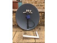 Satellite Dish & Wall Mount Bracket For Sale