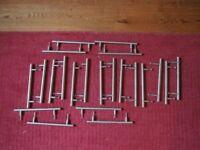 Solid bushed steel kitchen bar handles