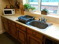Used Kitchen Units including sink, hob and double oven