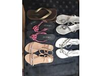 Ladies flip flops size 3