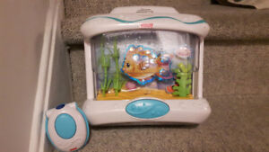 Fisher Price crib aquarium with lights sound and movement
