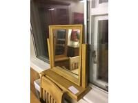 Solid oak dressing mirror * free furniture delivery*