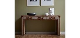 HALO Coleby Console Table - Leather Trunk - Ex Showhome Furniture