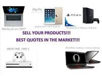 WANTED YOUR MACBOOK PRO,AIR,IPAD PRO 12.9,9.7,AIR,ALIENWARE,LENOVAO LAPTOP,PS4 PRO,SLIM,XBOX ONE S