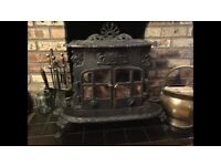Ornate Cast-Iron Multi-Fuel Stove / fireplace