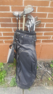 Men's right hand golf clubs (13 pc), with bag