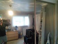 Sliding mirror wardrobe doors X 2 with tracking