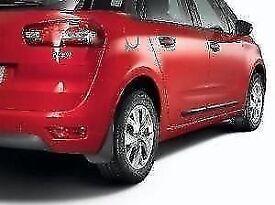 Genuine Citroen Grand C4 Picasso 2013> Moulded Mudflap set (Frt & Rr) New