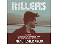 The killers x 2 standing manchester arena 13th November 07393471927