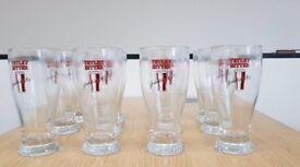 12 Rare Embosses Tetley Bittrr Yorkshire's No 1 Pint Glasses