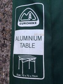 Eurohike aluminium folding camping table