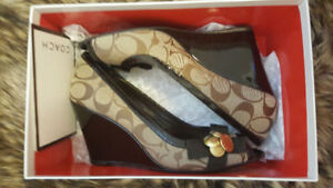 Brand new authentic coach wedges