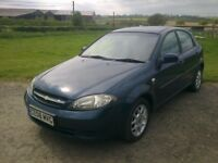 CHEVROLET 1.6 LACETTI 5 DOOR HATCHBACK- 61000 MILES- PETROL- 5 SPEED MANUAL.
