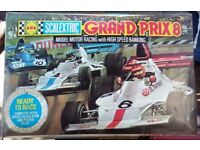 2 Old Scalextric Sets. 1975 Grand Prix 8 and Mighty Metro (6R4) 1980s.