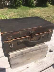 Very Old Small Wooden Antique Trunk/Chest