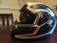 Black Optimus SV Motorcycle Helmet - £50 only
