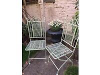 2 beautiful garden chairs