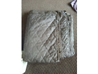 New, unused quilted bedspread / throw King size