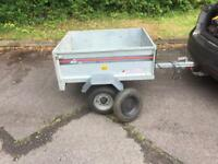 Erde 101 Galvanised car trailer with spare wheel and hitch lock - trailor metal box cheap