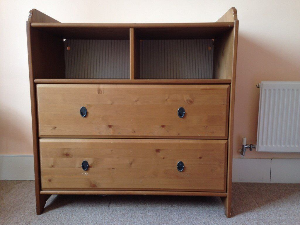 Ikea u2013 sundvik chest of drawers changing table in natural wood