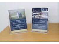 A5 Counter Plastic Leaflet Holders