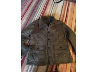 Khaki green boys lightweight jacket age 5/6 SB