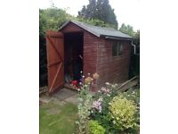 8ft/6ft cedar wood garden shed