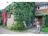 Charming large character farmhouse close to London available within private grounds