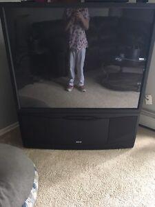 52 inch RCA floor model tv