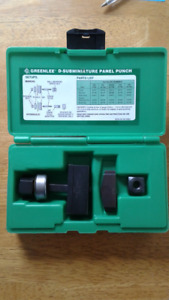 Greenlee RS232 25 pin D subminiature panel punch