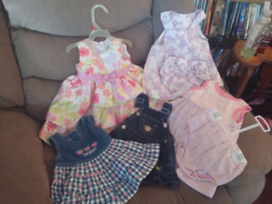 EUC GIRLS DRESSES SIZE 6 TO 12 MONTHS