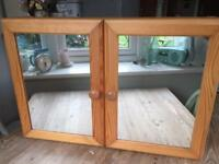 Mirrored wooden bathroom cabinet