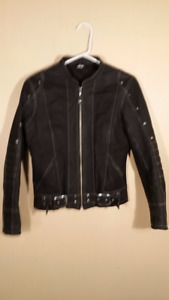 Women X small motorcycle leather jacket - AKOURY