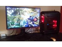 Overclockers Gaming PC (i5, RX 480 Nitro+, 16GB ram, 500Gb SSD) AND 144Hz FreeSync Monitor