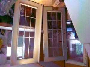 DOUBLE, EXTERIOR GLASS DOORS