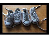 2 pairs if baby size 3 converse