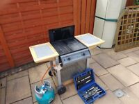Gas Barbeque with tools & Gas bottle