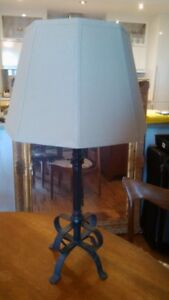 table lamp with wrought iron