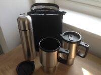 Travel Thermal Flask and Mug Set