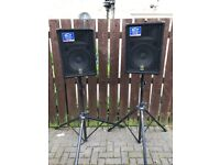 Yamaha BR12 Speakers with stands